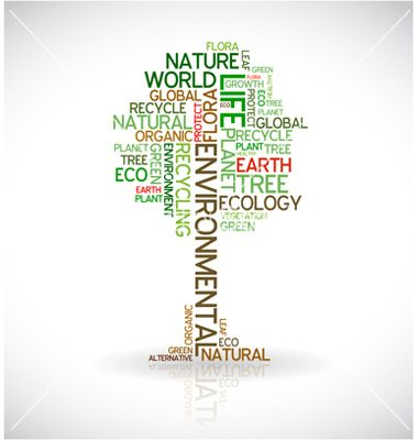 Eco tree typography vector