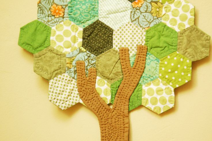 hexagon tree quilt