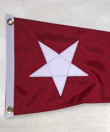 flag with white star