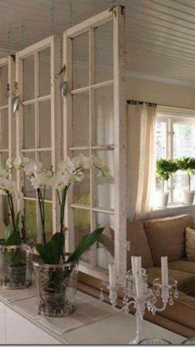Old Windows As A Room Divider Cottage Pinterest