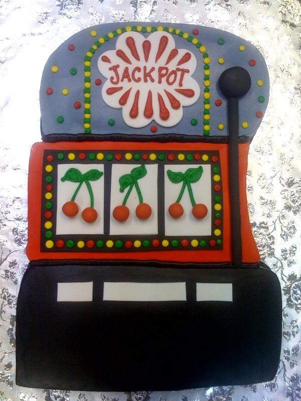 slot machine birthday cake ideas