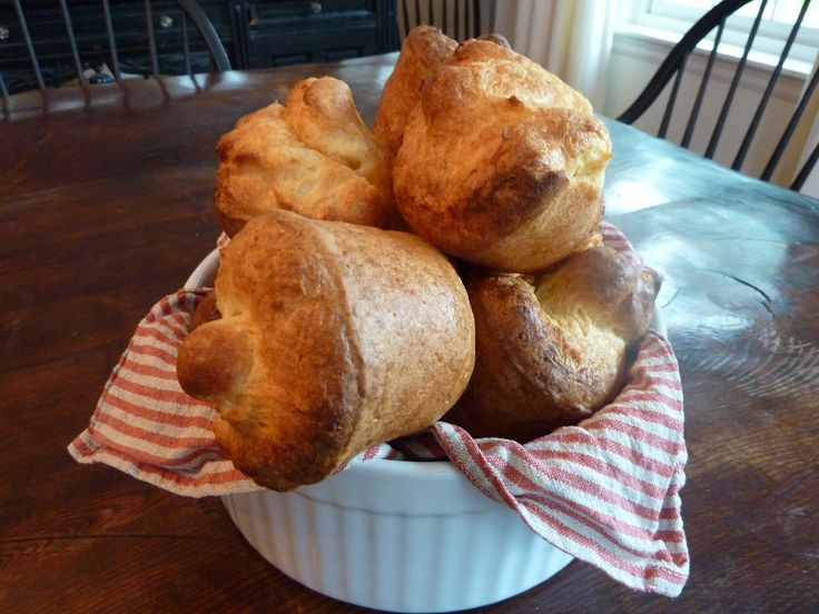 Popovers and jam, yum! CI