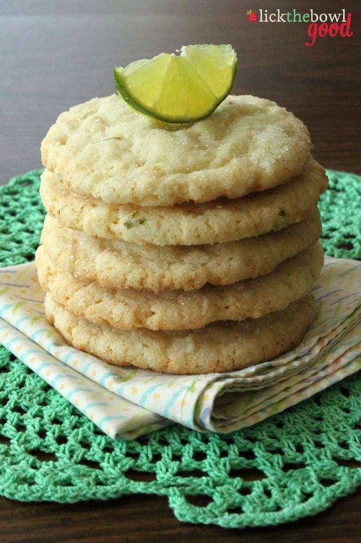 Chewy Coconut Lime Sugar Cookies. | eats, treats, & sweets | Pinterest