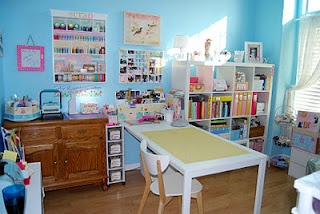 My sisters beautiful scrapbook room!