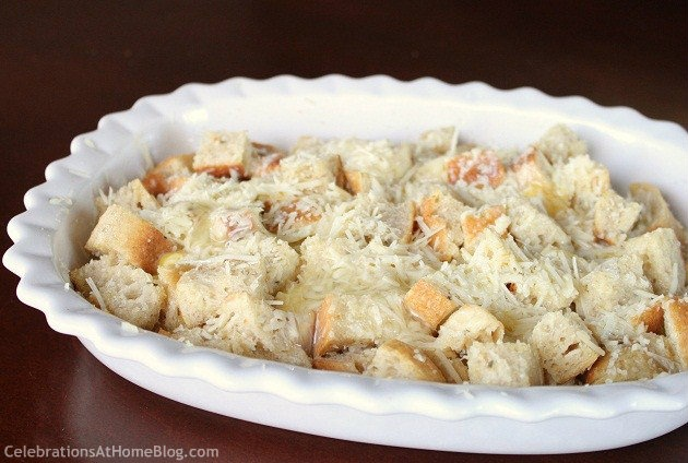 Savory Rosemary & Parmesan Bread Pudding