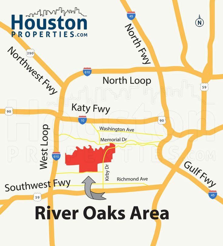 Remarkable River Oaks Houston Map  Great Maps Of Houston