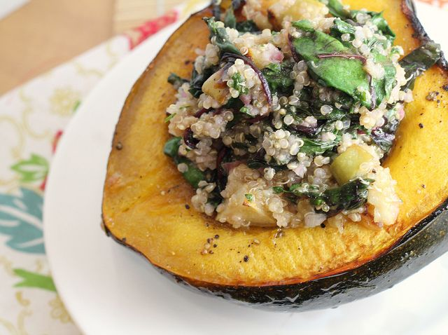 Recipe: Acorn Squash Boats with Quinoa {12 Weeks of Winter Squash}