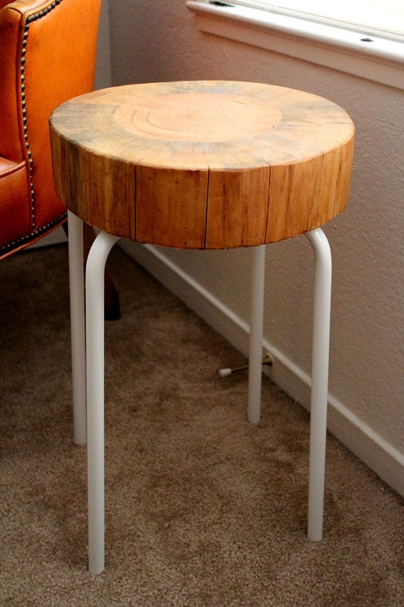 Wood Side Table - Reclaimed Wood Furniture - Tree Stump Table - Cedar ...