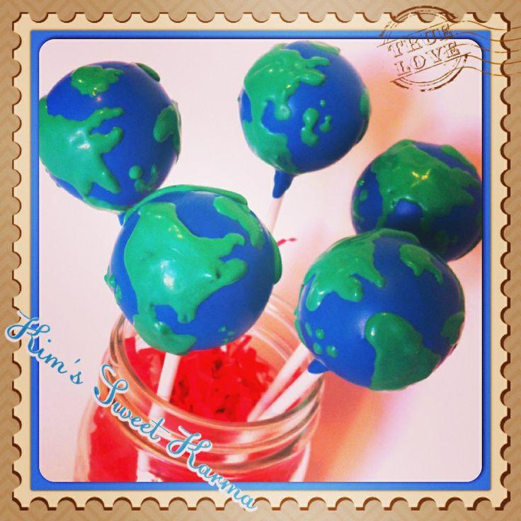 World Globe Cake Pops