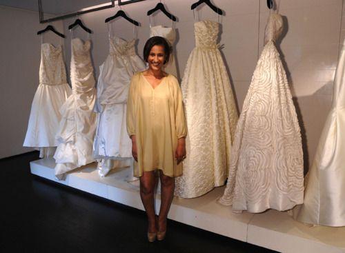 Amsale Aberra at the bridal salon