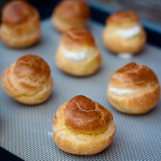 Goat cheese mini puffs | Good enough to eat...or drink | Pinterest