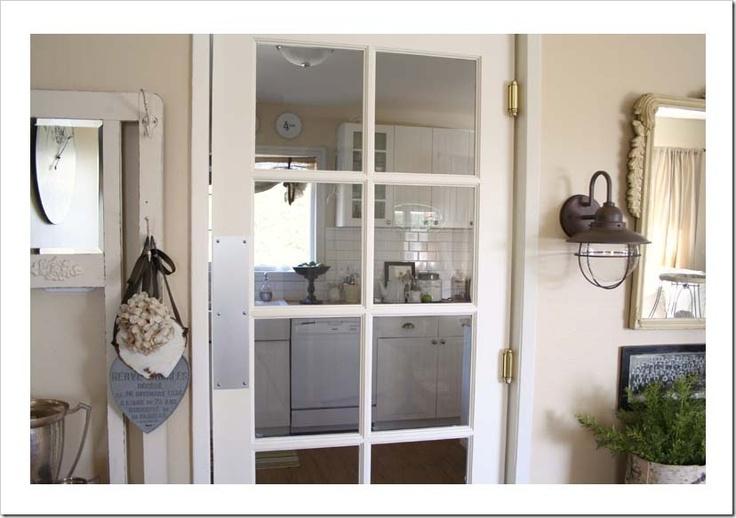 Swinging kitchen door for the home pinterest for Swinging kitchen doors residential