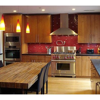 red kitchen backsplash dream home pinterest
