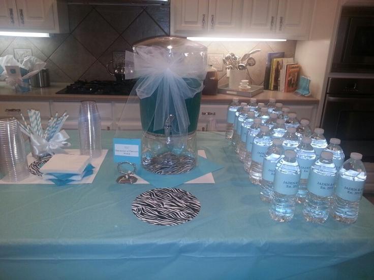 tiffany blue punch amazing baby shower