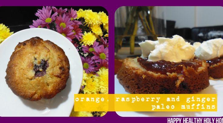 Orange, Raspberry and Ginger Muffins--Paleo, Gluten Free, Grain Free ...