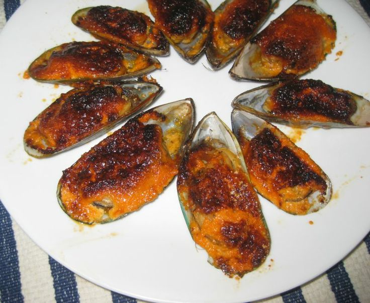 images of asian appetizers   Broiled Mussels With Dynamite Sauce