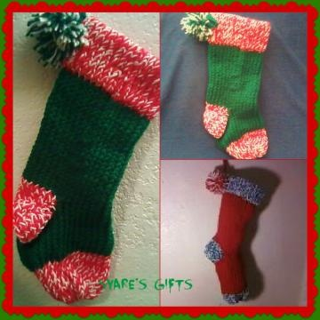 Christmas Stocking Loom Knitting Pattern : loom knitted christmas stocking Looms & knitting Pinterest