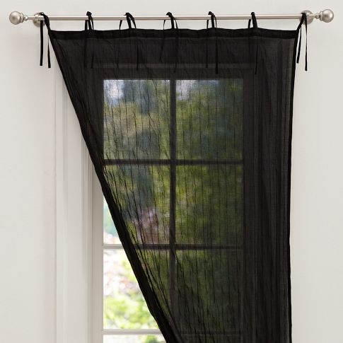 sheer black curtains home 1 pinterest