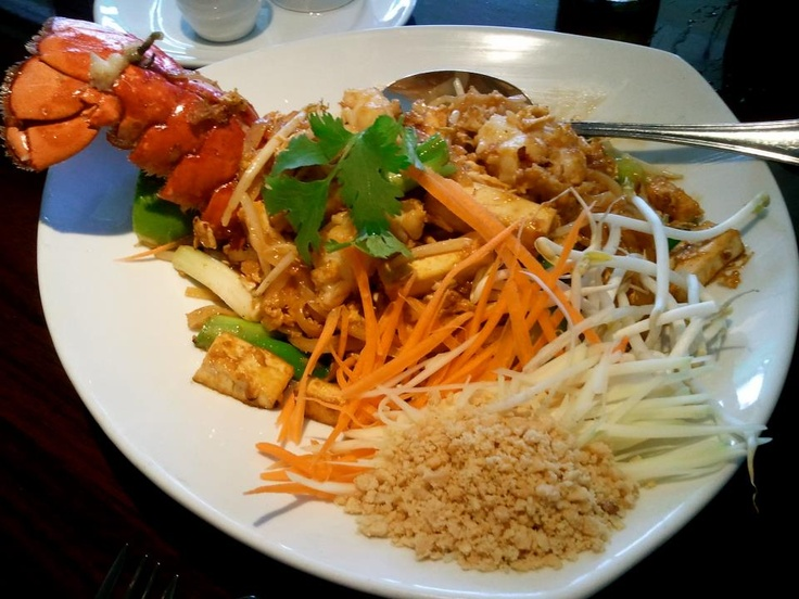 LOBSTER PAD THAI - our famous noodle with a spin. Thin flat rice ...