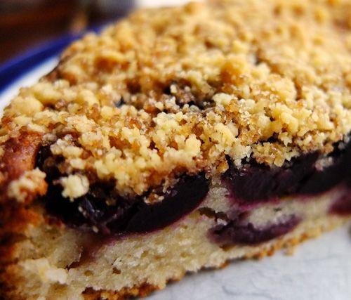 Cherry Crumble Cake | ♔ Vegetarian Recipes • Sweet Recipes ...