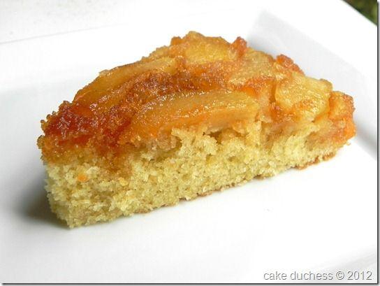 Warm Apple Cornmeal Upside Down Cake by Cake Duchess