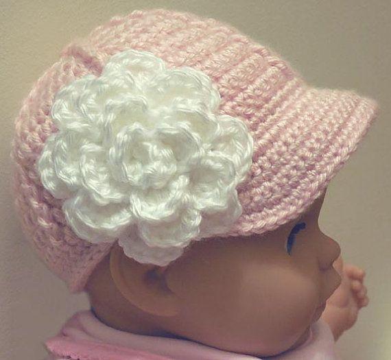 Crochet Pattern Baseball Cap : PDF CROCHET PATTERN Baby Boy or Girl Baseball Cap Pattern ...
