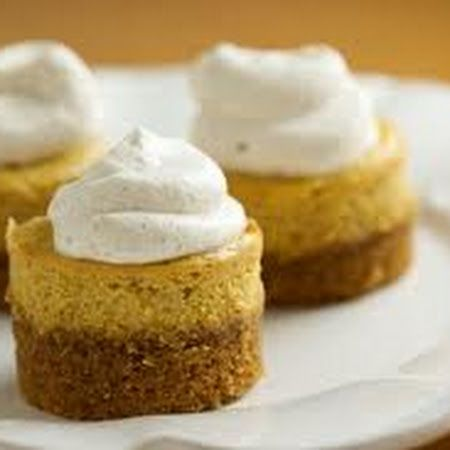 Pumpkin Cheesecake Tarts | Food and such | Pinterest