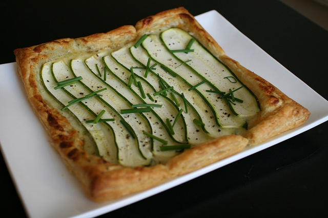 Zucchini Tart with Gruyère Cheese and Crème Fraîche