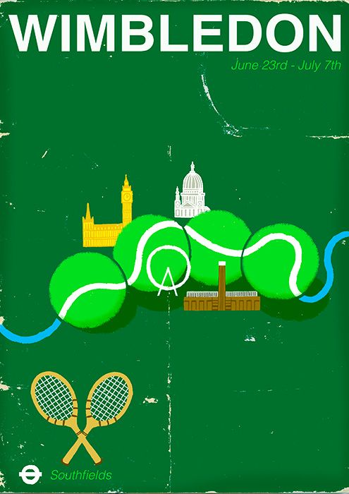 Wimbledon Poster version 2. By Paul Thurlby.