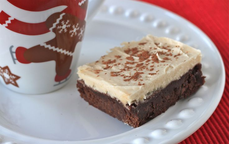 kahlúa brownies with kahlúa mocha buttercream frosting and salted ...