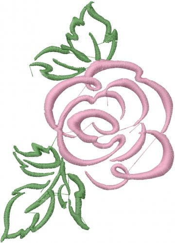 Rose outline draw the of