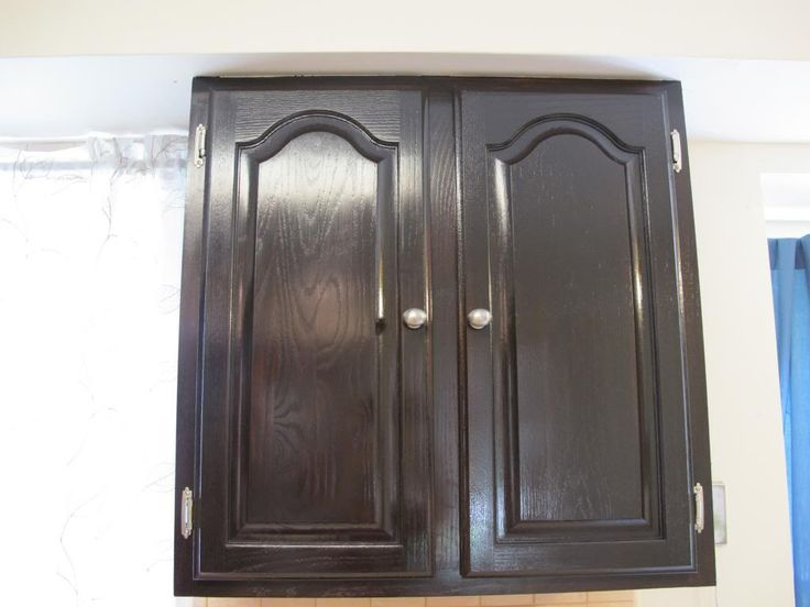 Gel Stain Kitchen Cabinet Makeover For The Home Pinterest