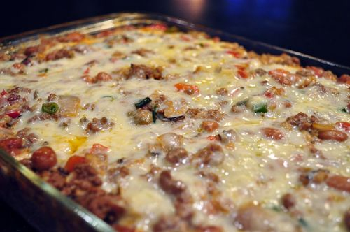 Mexican casserole with beef and rice.   Good Eats   Pinterest