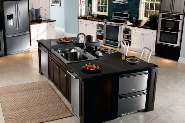 with the dark and light colored kitchen cabinets http  www menards