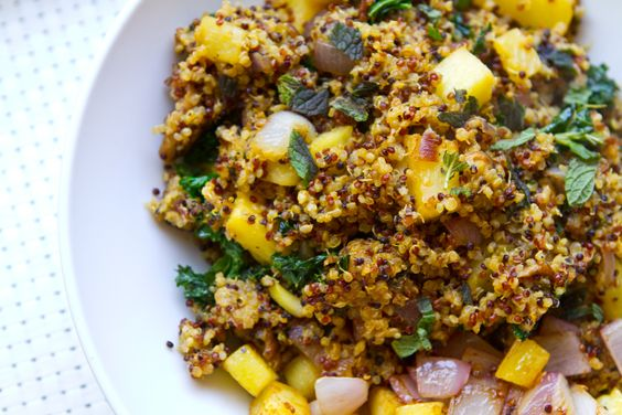 vegan-pineapple-fried-quinoa | Yum! | Pinterest