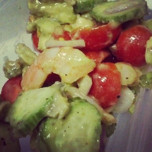 Zesty lime shrimp and avocado salad...YUMMY :D