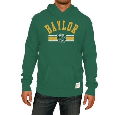 Baylor Bears Heritage Custom Sport Pullover Hoodie - Gunmetal