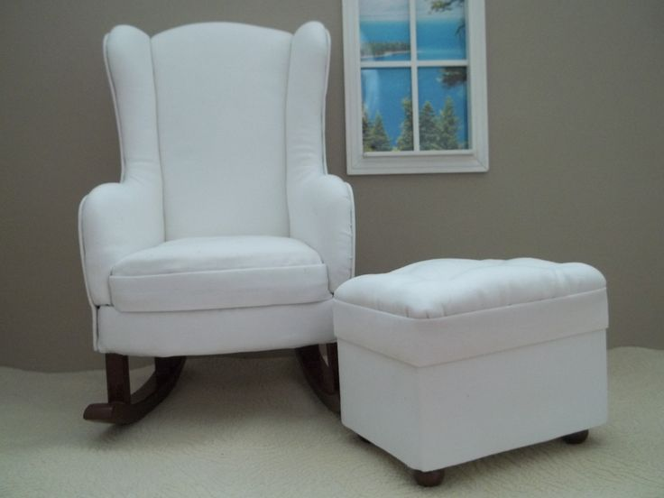 wanted a wingback rocking chair and ottoman for my doll nursery and ...