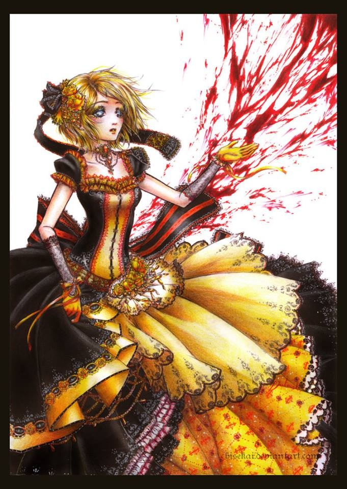 thought For the daughter of evil had received what she had soughtKagamine Rin Daughter Of Evil Cosplay