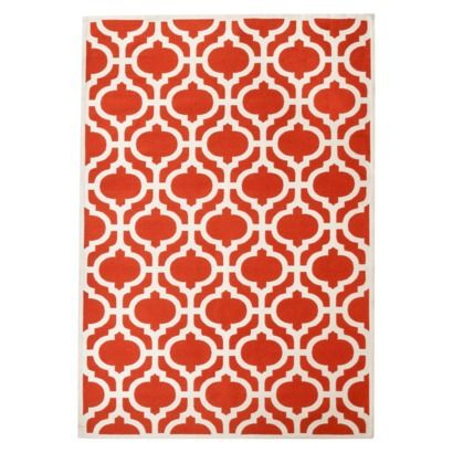 threshold indoor outdoor fretwork area rug red 5 39 x7 39