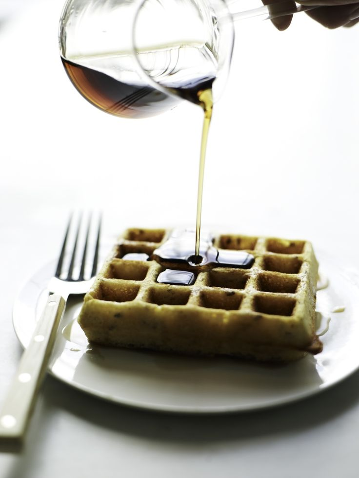 Gluten-Free Flax Waffles made with GF flour & cornmeal. Perfection!