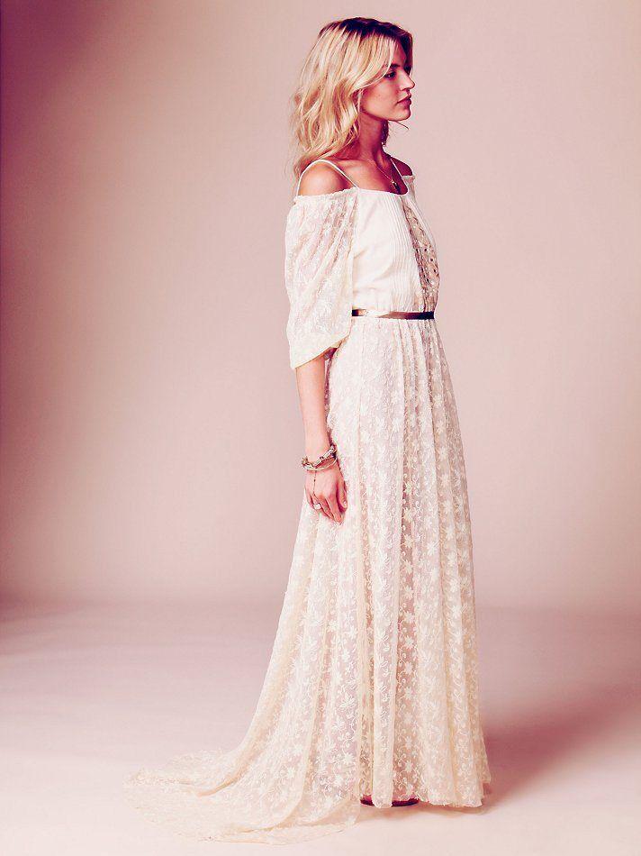 robe de mariée bohème vintage dentelle  Mariage - Robes  Pinterest