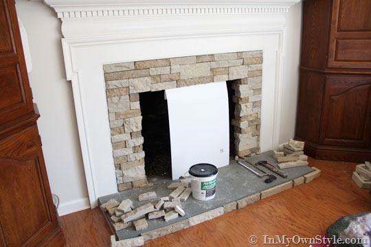 diy fireplace makeover on a budget i have to do this someday