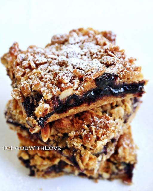 Blueberries, Milk and Oat Crumble Bar | Brownies & Bars | Pinterest