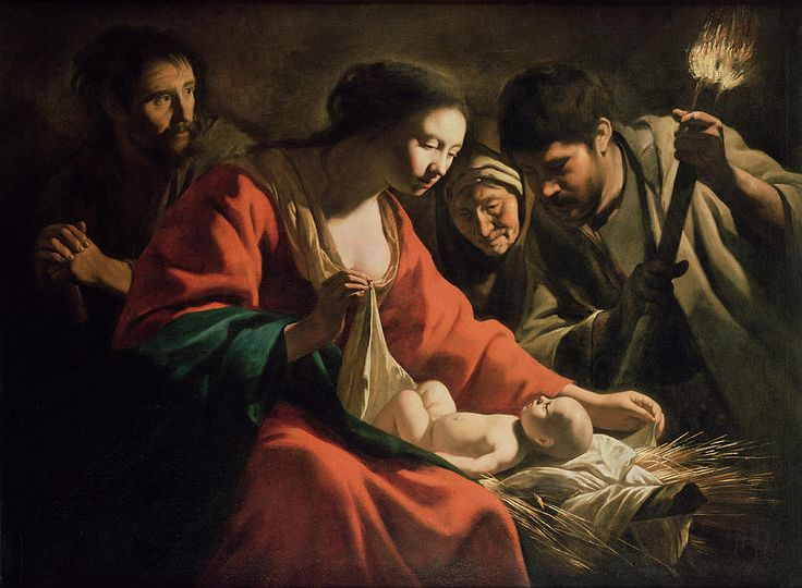 Mathieu Le Nain (1607-1677)  - The Nativity  (900�661)