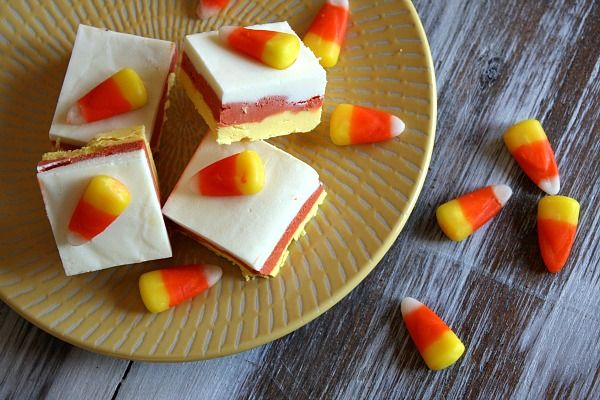 Candy Corn Fudge from Recipe Girl. http://punchfork.com/recipe/Candy ...
