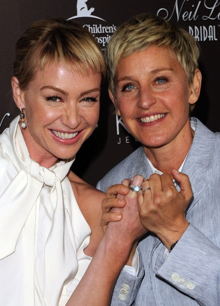 Ellen DeGeneres -neil-lane-jewelry-2Ellen Degeneres And Portia De Rossi Wedding Ring
