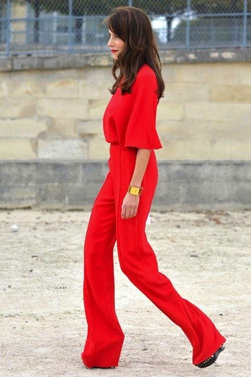 Red jumpsuit   love.   Pinterest