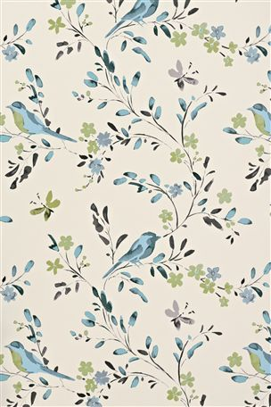 Teal Bird Wallpaper from the Next UK online shop