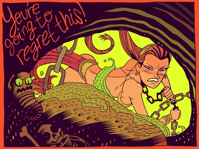 """""""You're Going to Regret This"""" by artist Dan Hipp.   STAR ... Jabba The Hutt And Leia Fanfiction"""